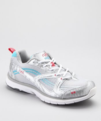 Silver & Blue Transpire LO Running Shoe