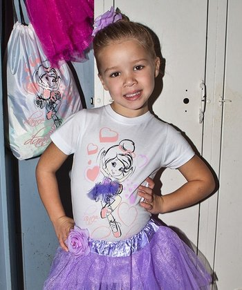 White Interchangeable Tutu Tee - Girls