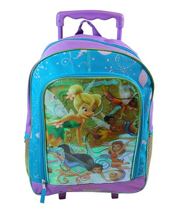 Blue & Purple Fairies Rolling Backpack