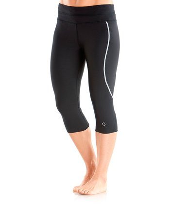 Black Sprint Tech Capri Leggings - Women