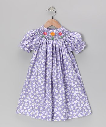 Purple Daisy Bishop Dress - Infant, Toddler & Girls