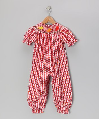 Red Tweet Angel Bubble Bishop Playsuit - Infant