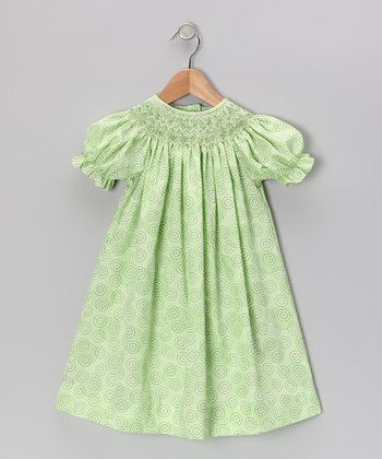 Light Green Circle Bishop Dress - Infant, Toddler & Girls