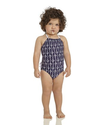 Navy Ania Halter One-Piece - Infant