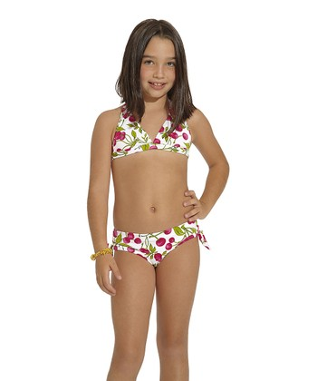 Red & Green Rio Halter Bikini - Toddler & Girls
