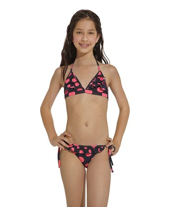 Pink & Black Chicaboom Bikini - Toddler & Girls