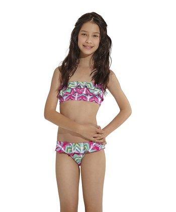 Pink Silktrai Bandeau Bikini - Toddler & Girls