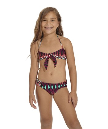 Pink Java Bandeau Bikini - Toddler & Girls