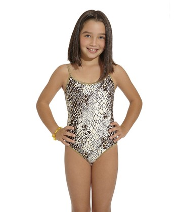 Brown Nilo One-Piece - Toddler & Girls