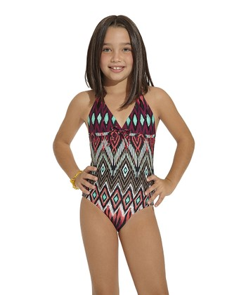 Pink Java Halter One-Piece - Toddler & Girls