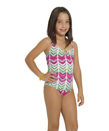Pink Silktrai One-Piece - Toddler & Girls
