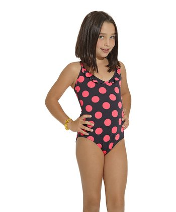 Pink & Black Chicaboom One-Piece - Toddler & Girls
