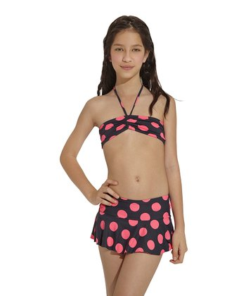 Pink & Black Chicaboom Skirt - Toddler & Girls