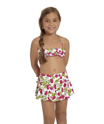 Red & Green Rio Skirt - Toddler & Girls