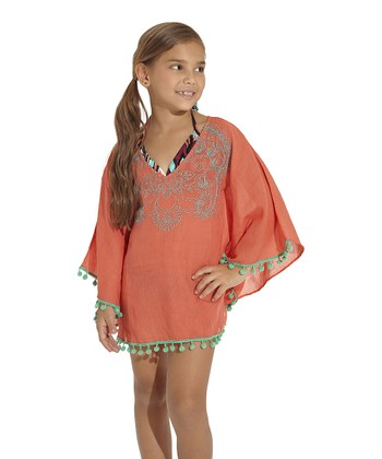 Coral Java Cover-Up - Toddler & Girls