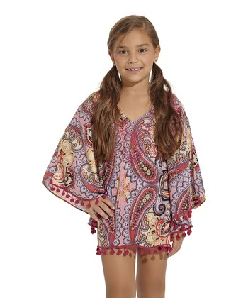 Pink & Red Arabian Soul Cover-Up - Toddler & Girls