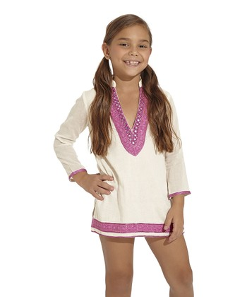 Ivory Arabian Soul Cover-Up - Toddler & Girls