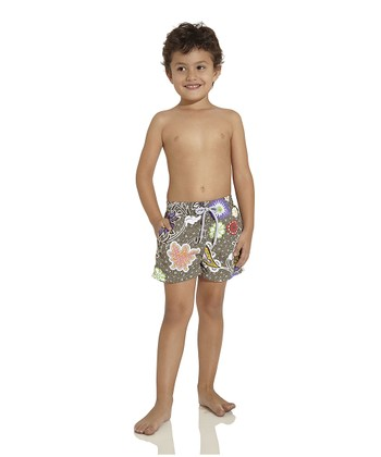 Olive Nomad Soul Nicky Swim Trunks - Toddler & Boys