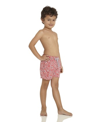 Red Nomad Soul Nicky Swim Trunks - Toddler & Boys
