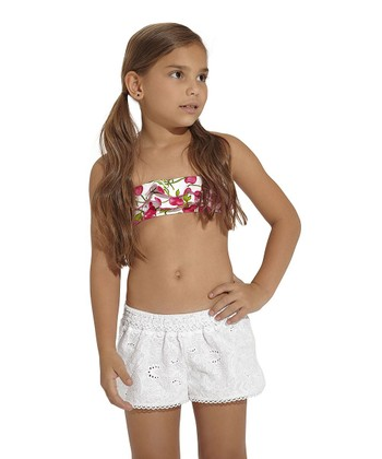 White Eyelet Shorts - Toddler & Girls