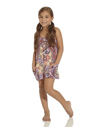 Pink & Red Arabian Soul Dress - Girls