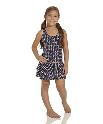 Navy Ania Dress - Toddler