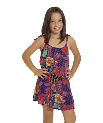Purple & Red Bursa Dress - Toddler & Girls