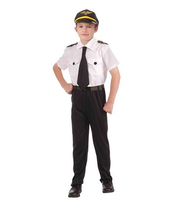White Pilot Dress -Up Set - Boys
