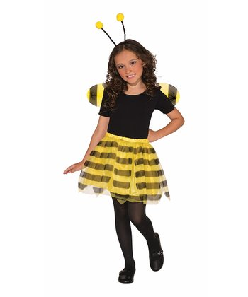 Yellow Bumblebee Dress-Up Set - Girls