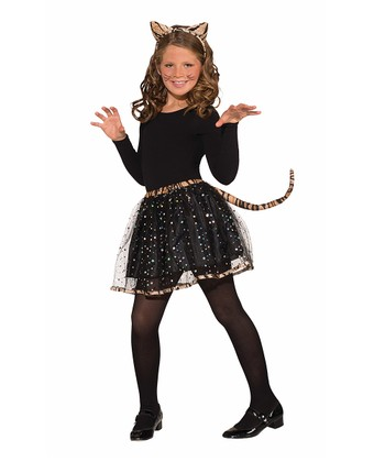 Brown & Black Tiger Tutu & Headband - Girls