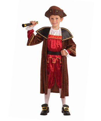 Red & Brown Explorer Dress-Up Outfit - Boys