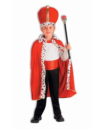 Red & White King Dress-Up Set - Boys