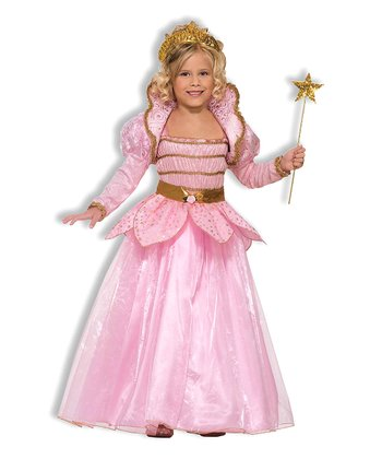Gold & Pink Princess Dress-Up Outfit - Girls