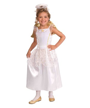 White & Gold Angel Dress-Up Outfit - Toddler & Girls