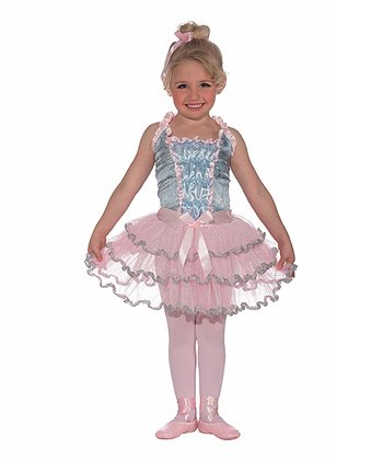 Pink & Silver Ballerina Dress - Toddler & Girls