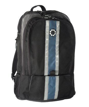 Blue Center Stripe Diaper Backpack