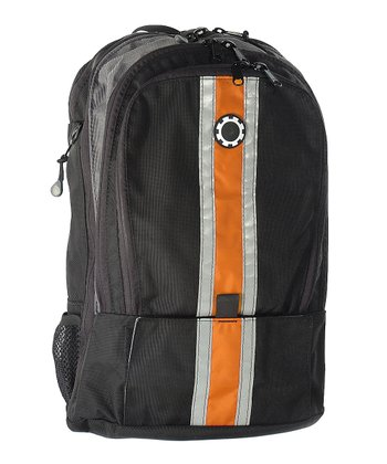 Orange Center Stripe Diaper Backpack