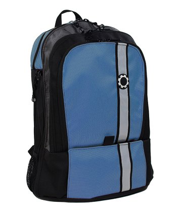 Blue Retro Stripe Diaper Backpack