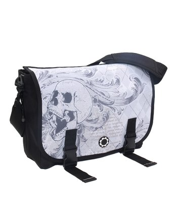 Argyle Skull Messenger Diaper Bag