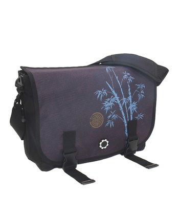 Blue Bamboo Messenger Diaper Bag