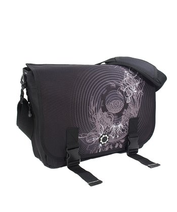 Concentric Circles Messenger Diaper Bag