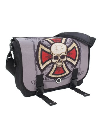 Cross & Skull Messenger Bag