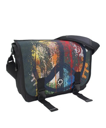 Graffiti Peace Messenger Diaper Bag