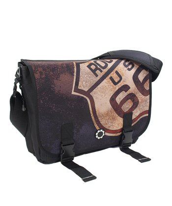'Route 66' Messenger Diaper Bag