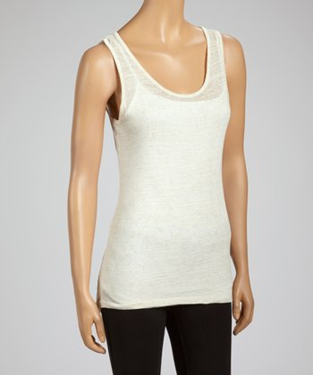 Cream Lace-Back Tank -