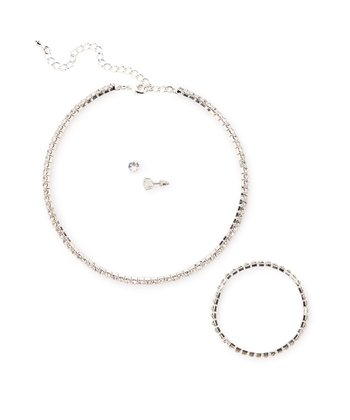 Silver Necklace Set Made With SWAROVSKI ELEMENTS
