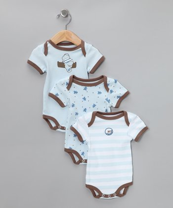 Blue Bear Bodysuit Set - Infant