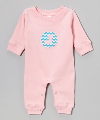 Pink Zigzag Initial Playsuit - Infant
