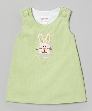Lime Bunny Personalized Jumper - Infant & Toddler