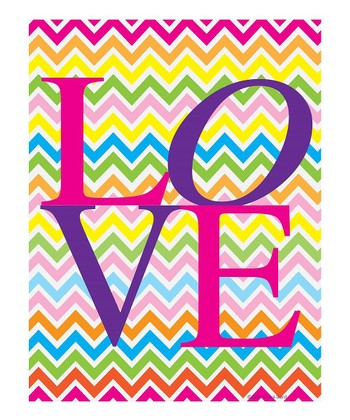 Bright Zigzag 'Love' Print